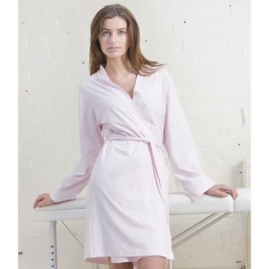 Personalised Ladies Cotton Wrap Robe TC50 Towel City 180 GSM