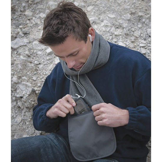 Personalised Polartherm Scarf with Zip Pocket RS100 Result 280 GSM