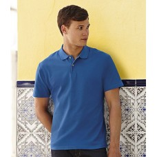 Personalised Original Cotton Polo Shirt SS29 Fruit of the Loom White 170 gsm Cols 180 GSM