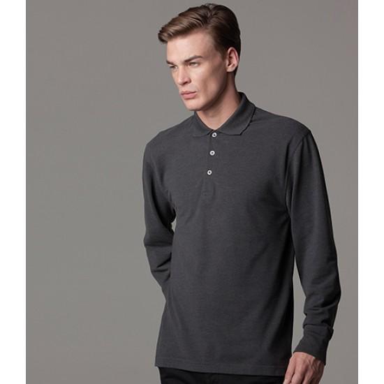 Personalised Long Sleeve Polo Shirt K430 Kustom Kit 200 GSM