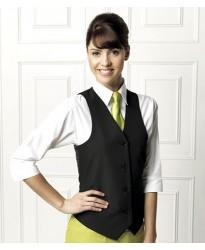Personalised Ladies Lined Waistcoat PR623 Premier 185 GSM