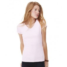 Personalised Baby Rib V Neck T-Shirt BL1005 Bella 195 GSM