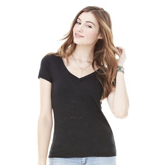 Personalised Burnout V Neck T-Shirt BL8605 Bella 105 GSM