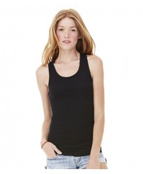 Personalised Sheer Rib Racer Back Tank Top BL8770 Bella 135 GSM