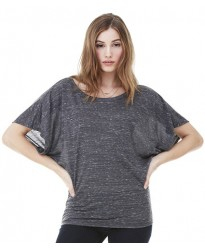 Personalised Flowy Draped Sleeve Dolman T-Shirt BL8821 Bella 125 GSM