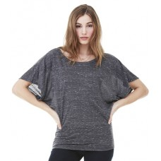 Personalised Flowy Draped Sleeve Dolman T-Shirt BL8821 Bella 125 GSM