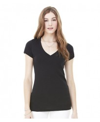 Personalised Jersey Deep V Neck T-Shirt BL6035 Bella 140 GSM
