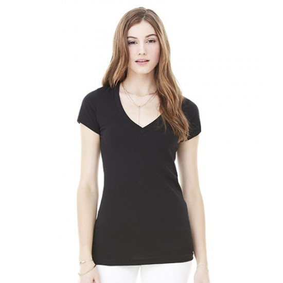 Personalised Jersey Deep V Neck T-Shirt BL6035 Bella 140 GSM