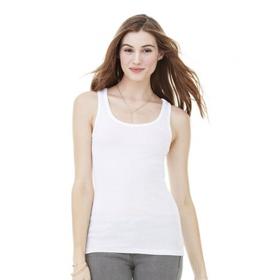 Personalised Sheer Rib Longer Length Tank Top BL8780 Bella 135 GSM