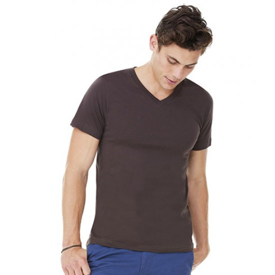 Personalised Unisex Jersey V Neck T-Shirt CV3005 Canvas 145 GSM