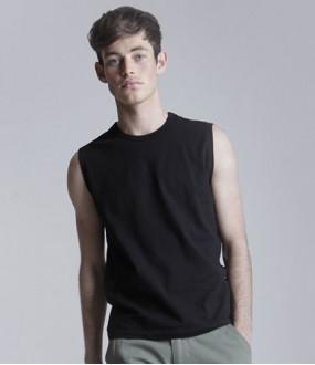 Personalised T-Shirt SF105 Modern Sleeveless Skinnifitmen 190 GSM
