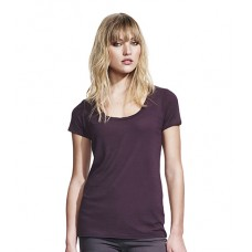 Personalised T-Shirt N48 Women'S Bamboo Twisted Neckline Continental