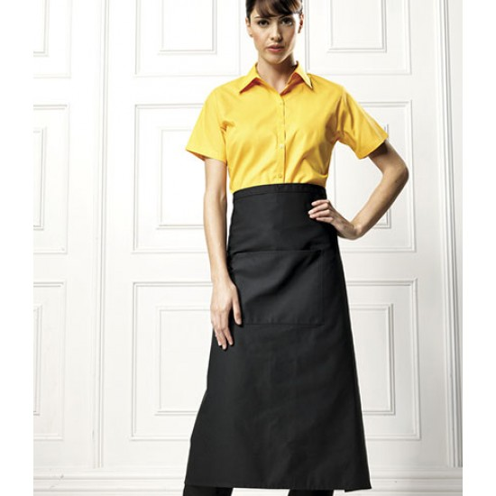 Personalised Apron PR106 Long Pocket Bar Premier 245 GSM