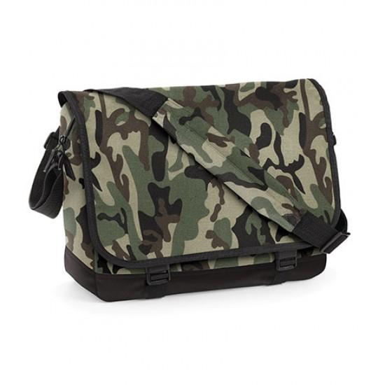 Personalised Bag BG171 Camo Messenger BagBase