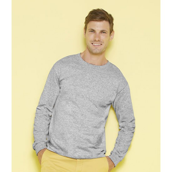 Personalised T-Shirt GD14 Ultra Cotton Long Sleeve Gildan White 190 gsm Cols 200 GSM