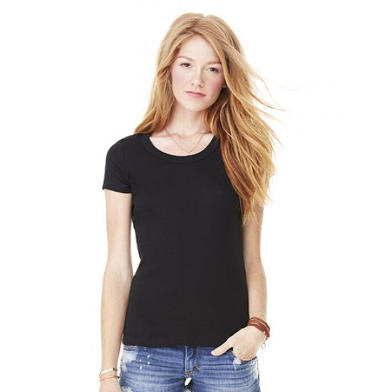 Personalised T-Shirt BL1003 Baby Rib Scoop Neck Bella 195 GSM