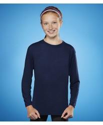 Personalised T-Shirt GD121B Kids Performance Long Sleeve Gildan White 145 gsm Colours 153 GSM