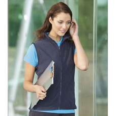 Personalised Micro Fleece Jacket H856 Ladies Sleeveless Henbury 280 GSM