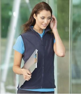Personalised Micro Fleece Jacket H856 Ladies Sleeveless Henbury 280 GSM