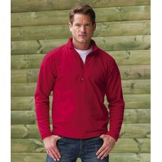 Personalised Micro Fleece 881M Zip Neck Russell 190 GSM