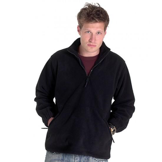 Personalised Micro Fleece Jacket UC602 Premium 1/4 Zip Uneek 380 GSM
