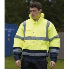 Personalised Pilot Jacket WD033 Hi-Vis Two Tone Dickies