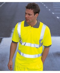 Personalised Polo Shirt WD043 Hi-Vis Dickies 170 GSM