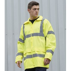 Personalised Rain Jacket PW011 Hi-Vis Portwest