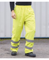 Personalised Rain Trousers PW012 Hi-Vis Portwest