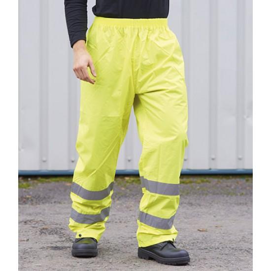 Personalised Rain Trousers PW012 Hi-Vis Portwest
