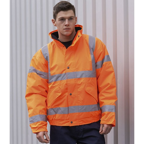 Personalised Jacket GO/RT PW021 Hi-Vis Bomber Portwest