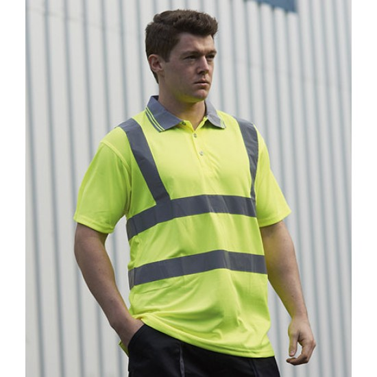 Personalised Polo Shirt PW061 Hi-Vis Portwest 175 GSM