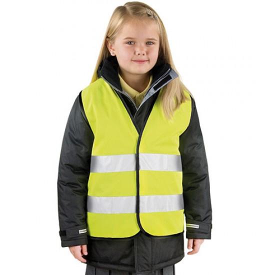 Personalised Safety Vest RS200B Kids Hi -Vis Result