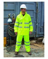 Personalised Hi-Vis Waterproof Suit RS216 Safeguard Result 210 GSM