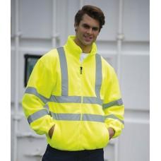 Personalised Fleece Jacket HV72 Hi-Vis RTY 300 GSM