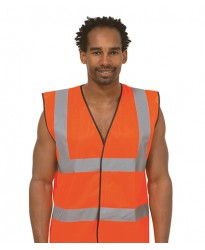 Personalised Safety Waist Coat  UC801 Sleeveless Uneek