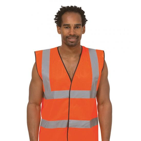 Personalised Safety Waist Coat  UC801 Sleeveless Uneek