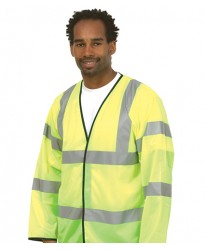 Personalised Safety Waist Coat UC802 Long Sleeve Uneek