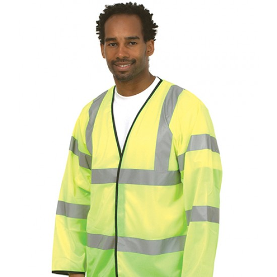 Personalised Safety Waist Coat UC802 Long Sleeve Uneek