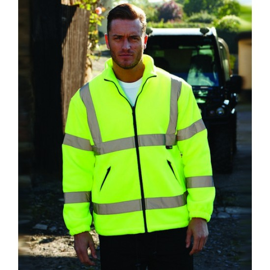 Personalised Fleece Jacket WR004 Hudson Hi-Vis Warrior 360 GSM