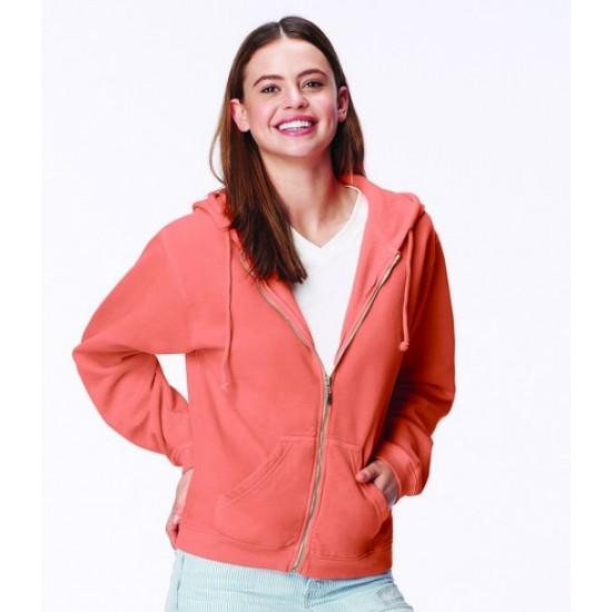 Personalised Ladies Zip Hooded Sweatshirt CM152F Comfort Colors 305 GSM