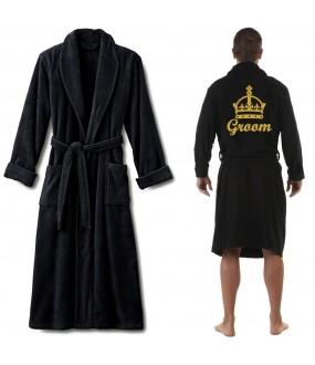 A TERRY CROWN and custom name Embroidery bathrobe