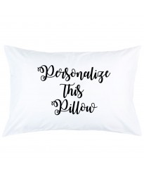 Personalized this pillow with custom curly text printed pillowcase covers