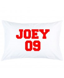 Personalized custom name and number printed pillowcase covers