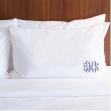 Personalised Prima custom monogram embroidery pillowcase covers