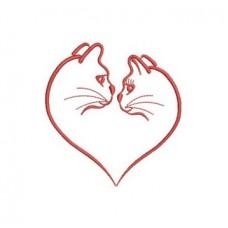 Kiss Cute cats embroidered Bathrobe