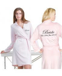 Custom Jersey lightweight bathrobe FRONT+BACK Embroidery
