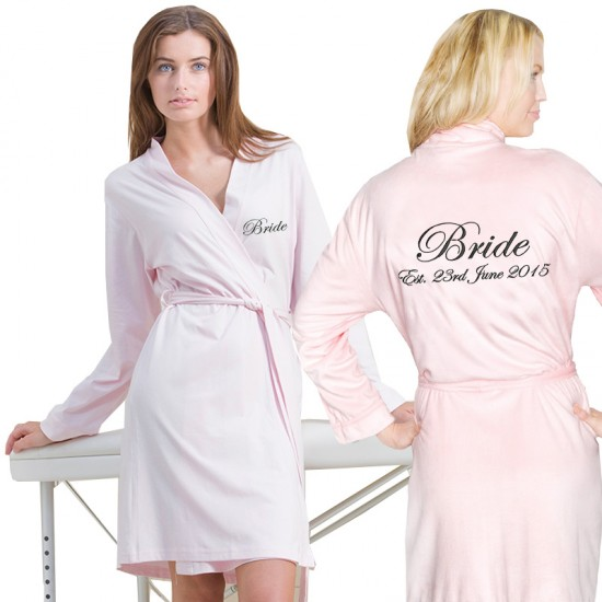 Custom Jersey lightweight bathrobe FRONT+BACK Embroidery