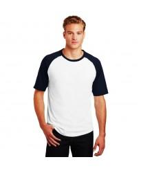 Raglan Short Sleeve Contrast Sleeve T Shirt