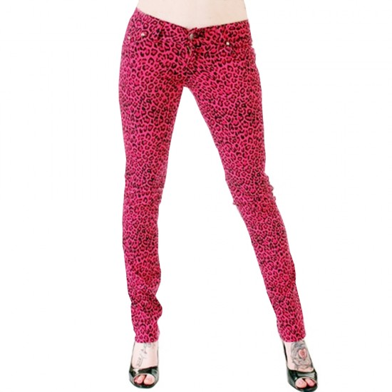 Hot Pink Leopard Skin Skinny Jeans